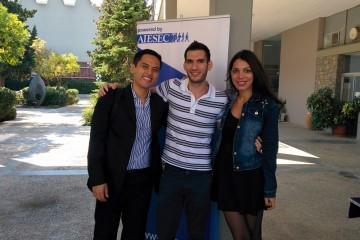 aiesec-youth-to-business-forum-vinicius-tsugue,-nick-papoutsis,-evita-gorgorini