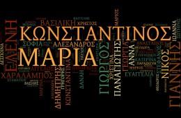 δημοφιλή ελληνικά ονόματα