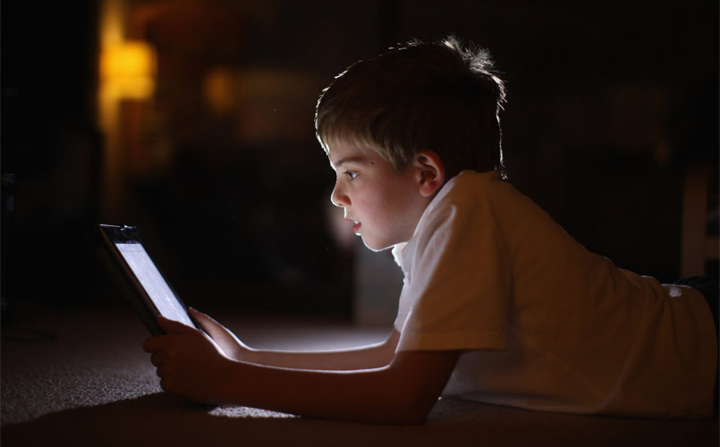 child-on-computer-stock-image