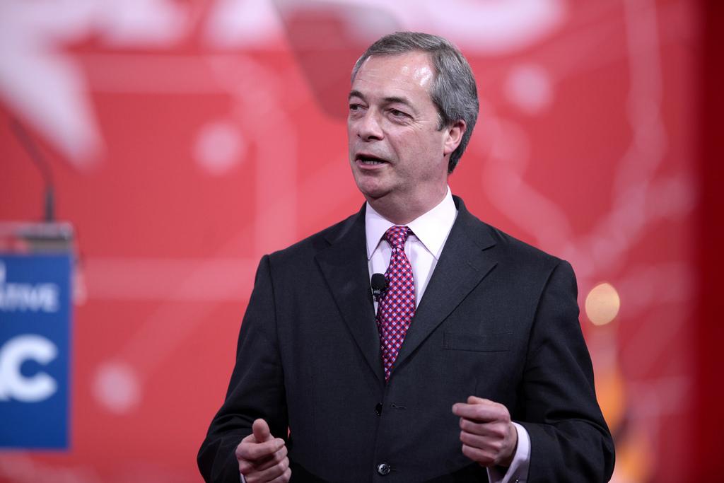O Nigel Farage, αρχηγός του Κόμματος Ανεξαρτησίας Ηνωμένου Βασιλείου