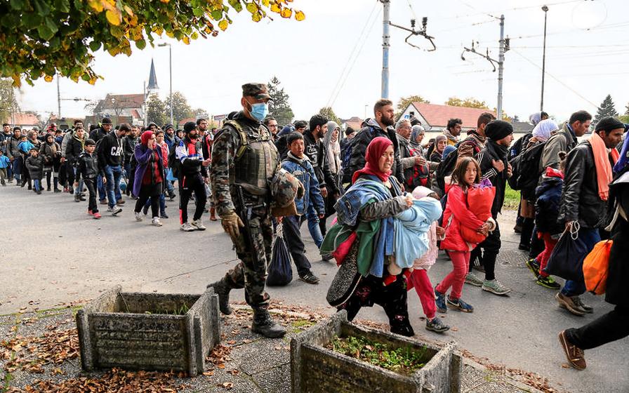 Σύριοι πρόσφυγες στη Σλοβενία