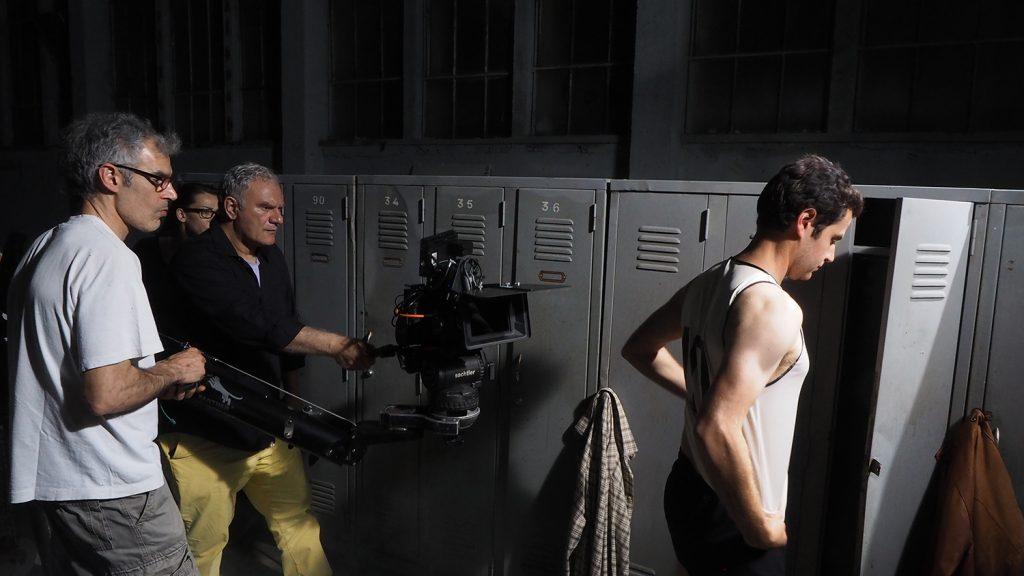 """Ο Τάσος Μπουλμέτης στα γυρίσματα της ταινίας """"1968"""""""