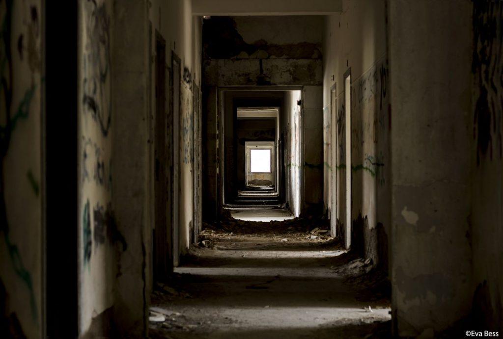 Εσωτερικός διάδρομος σανατορίου