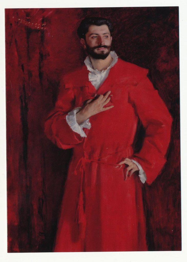 Άνδρας με κόκκινο μανδύα